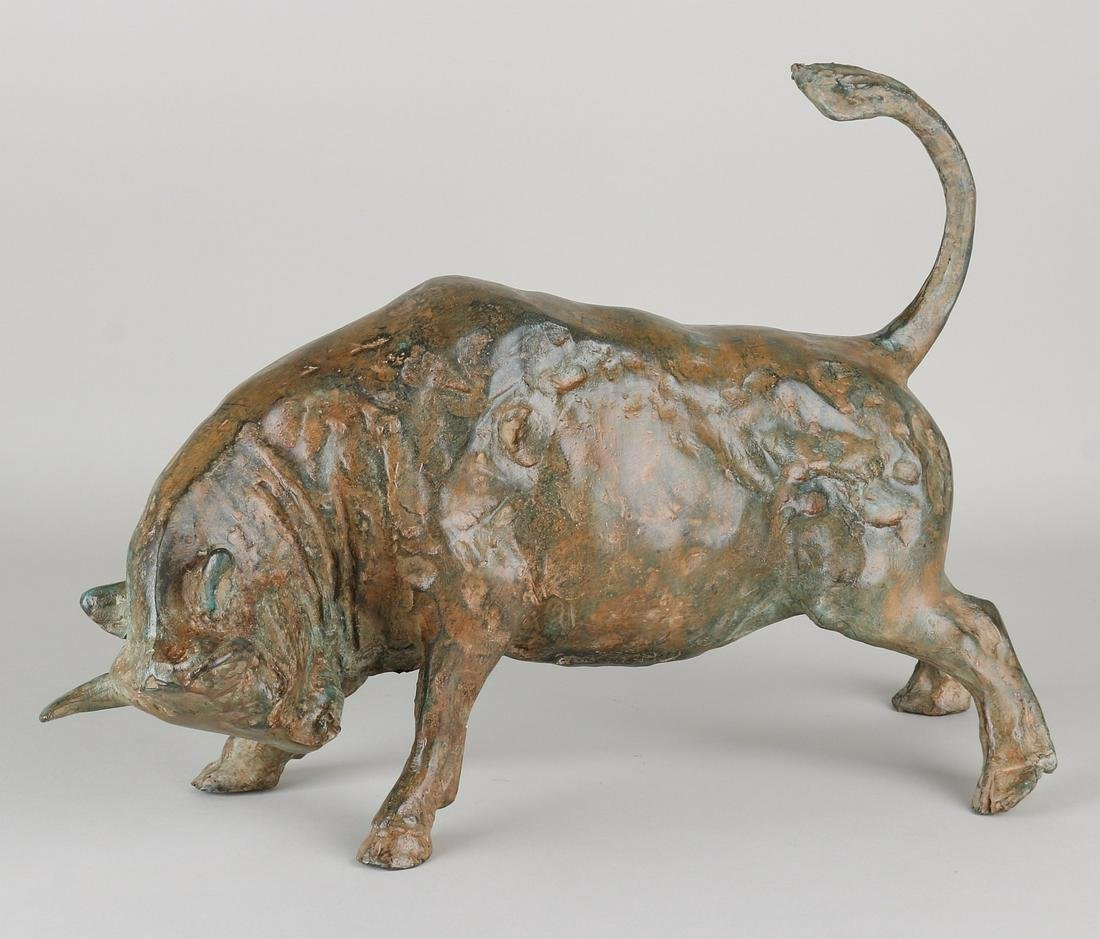 Bronze bull. Pierre Chenet. French School. With cast