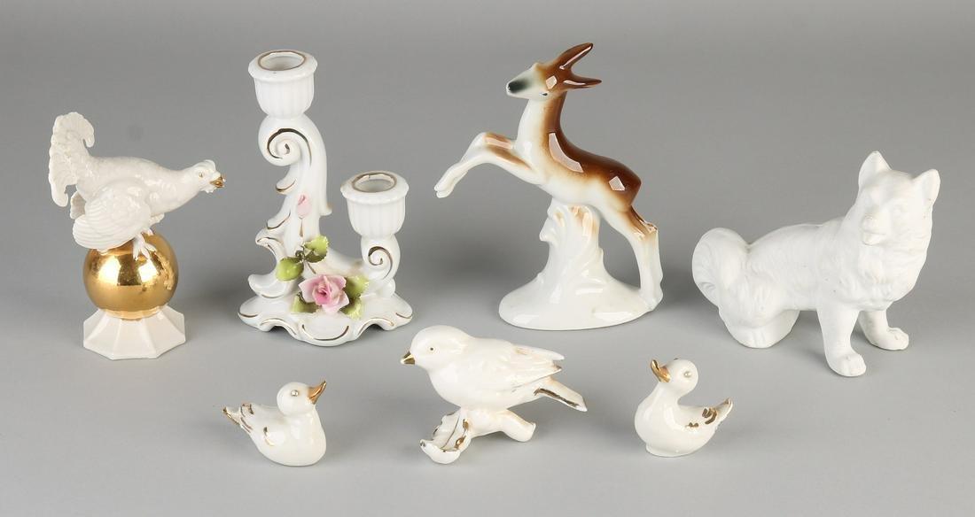 Seven times diverse (German) porcelain. Circa 1930 -