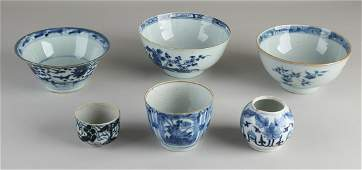 Six parts of Chinese porcelain various16018th