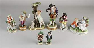 Eight pieces of various old / antique German porcelain