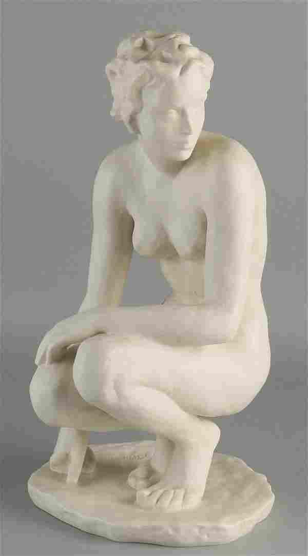 Large German porcelain Rosenthal figure.Naked