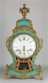 18th century French Neuchatelle mantel clock with verge