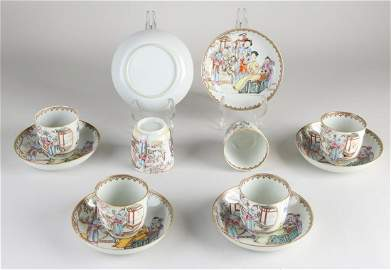 Six 18th - 19th century Chinese porcelain cups and