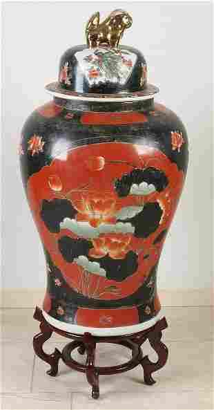 Large 19th century Japanese Satsuma porcelain lidded