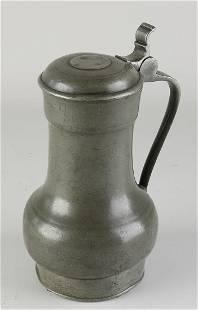 Antique pewter Rembrandt jug