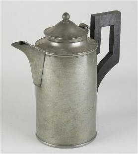 Antique pewter beak jug