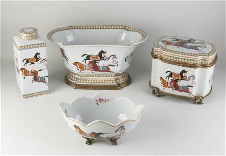 Four parts porcelain