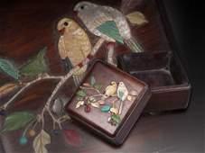 Qing Yellow Rosewood Treasure Cover Box
