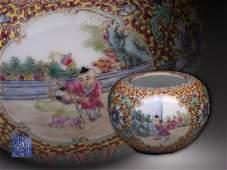 Qing Dynasty Fencai Enameled Porcelain Jar