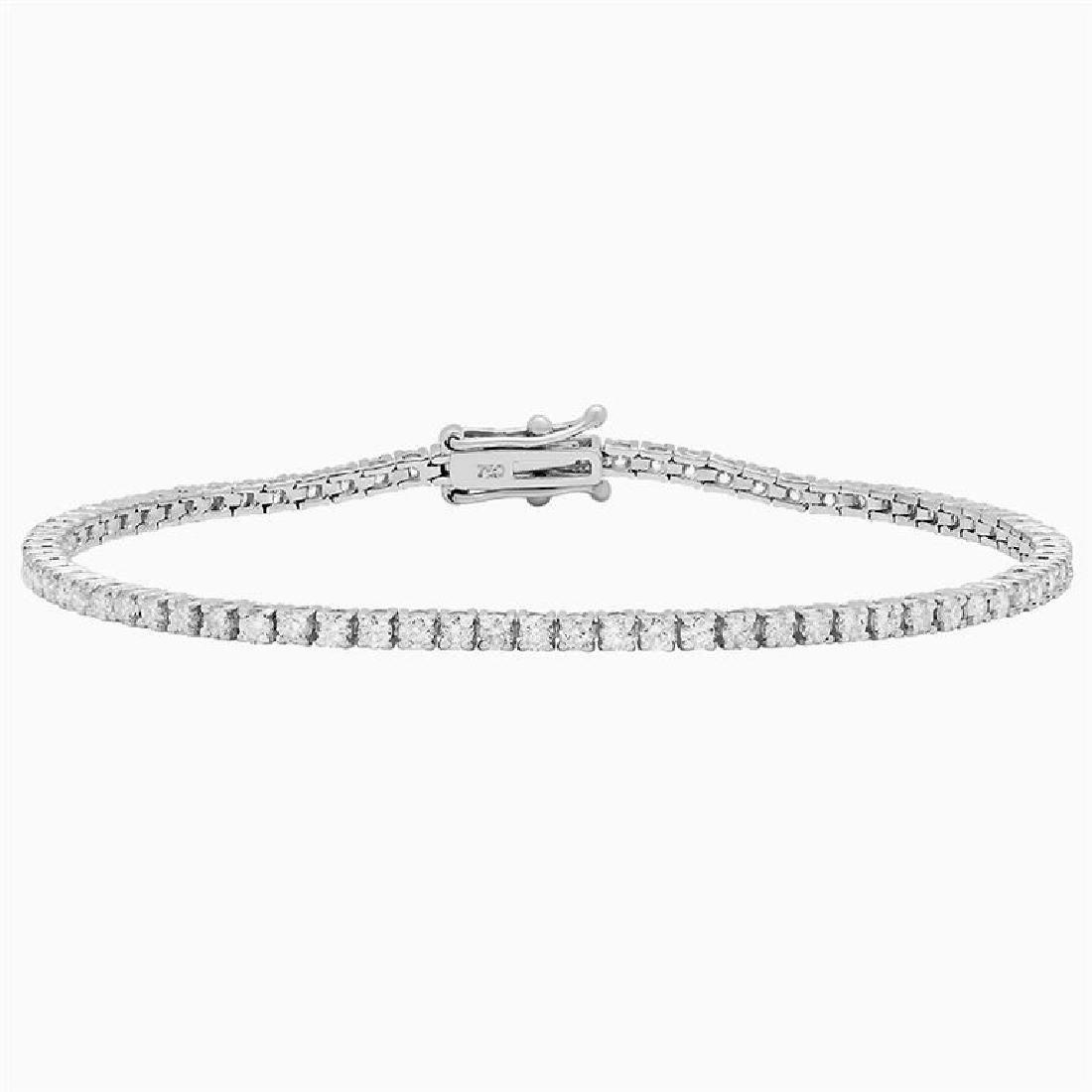 18k White Gold 2.76ct Diamond Tennis Bracelet