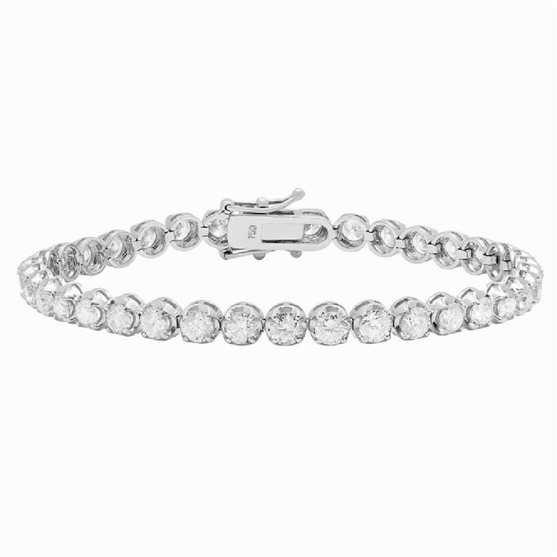 18k White Gold 7.32ct Diamond Tennis Bracelet