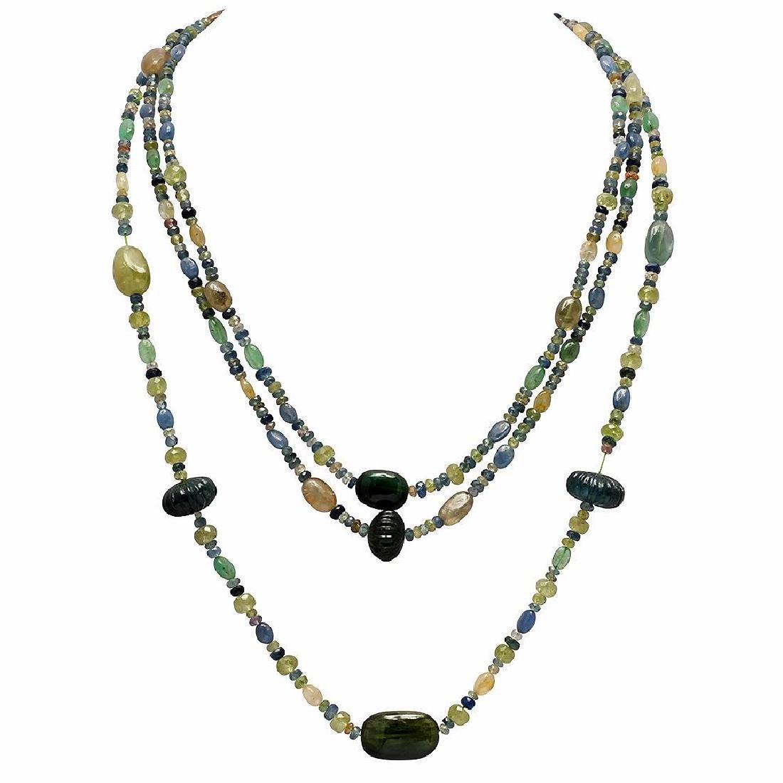 319.00ct Multi-Stone Three Strands Necklace