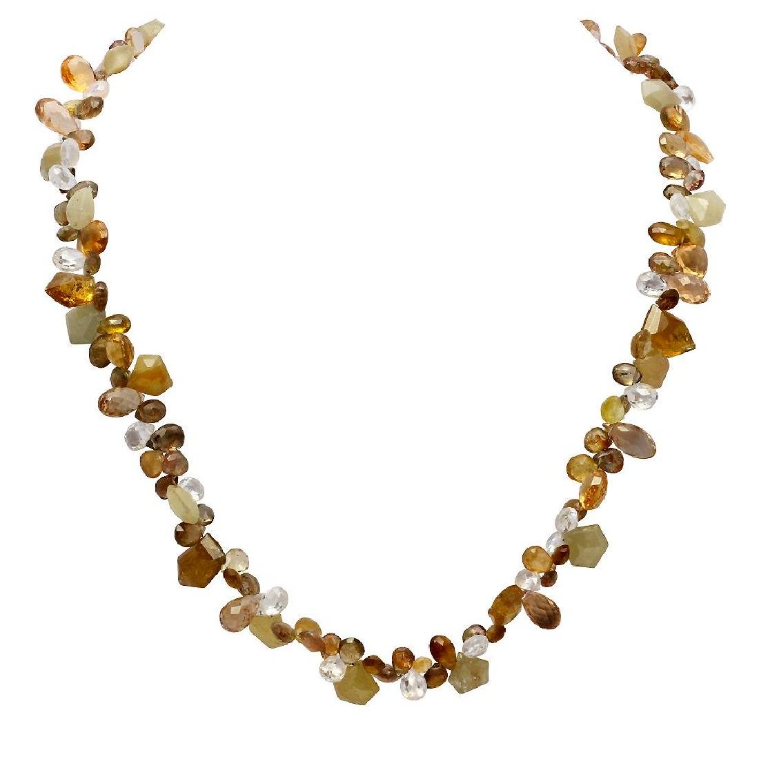 172.00ct Topaz One Strand Necklace