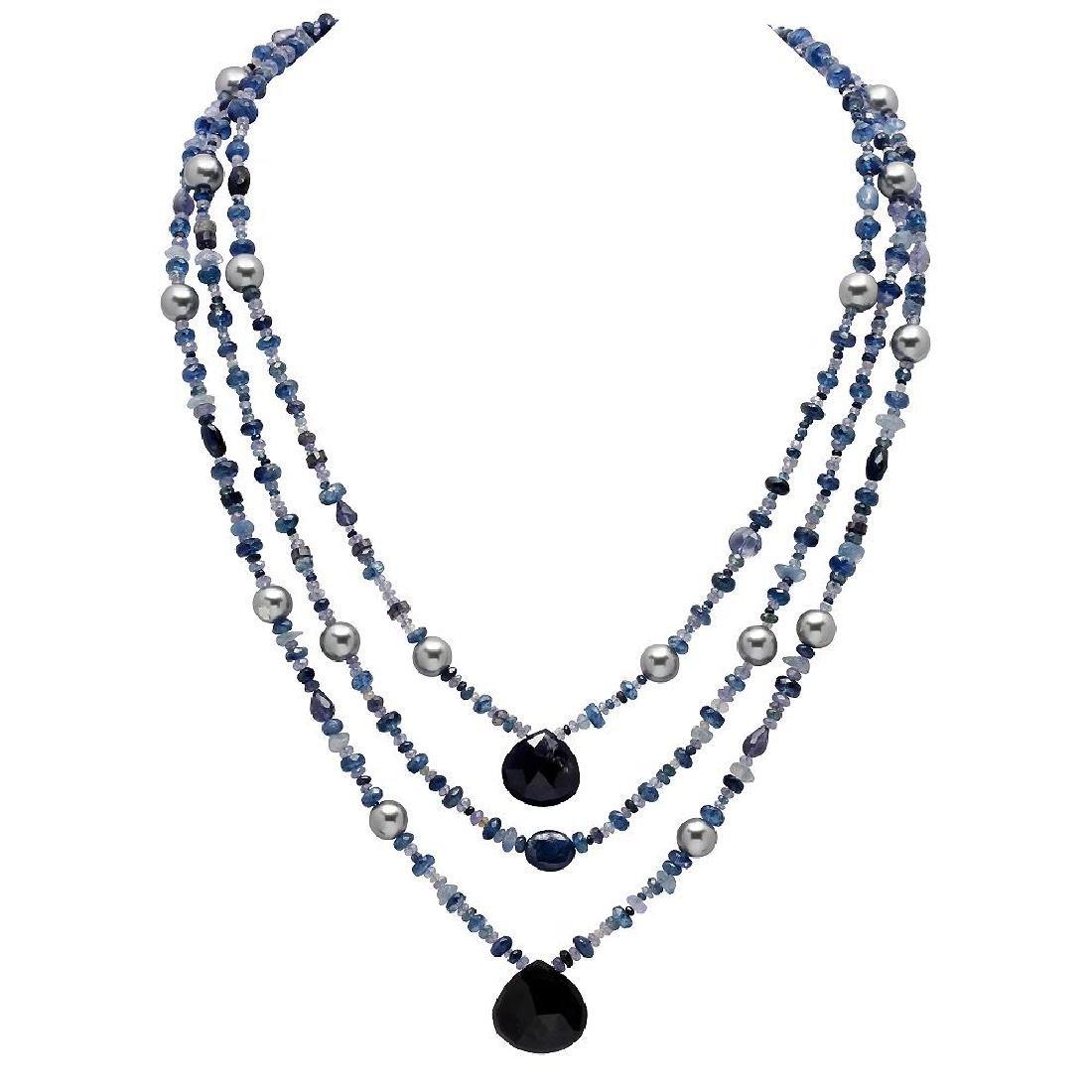 285.00ct Multi-Stone Three Strands Necklace