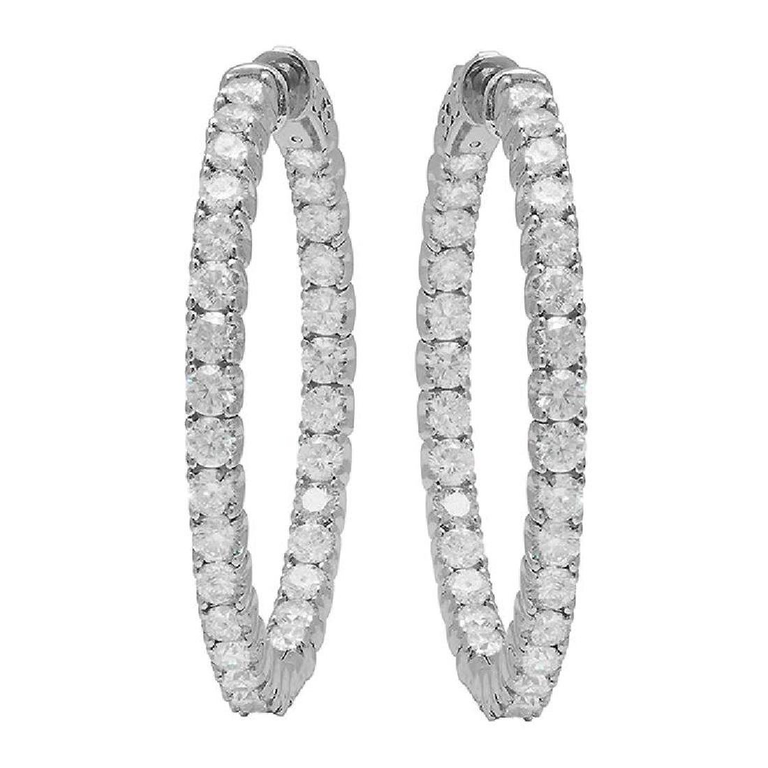 14k White Gold 5.10ct Diamond Earrings
