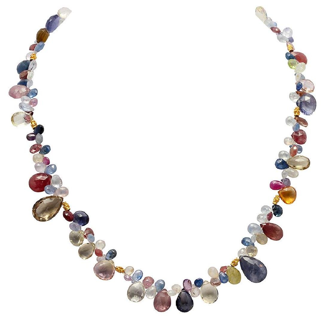 162.00ct Multi-Stone One Strand Necklace