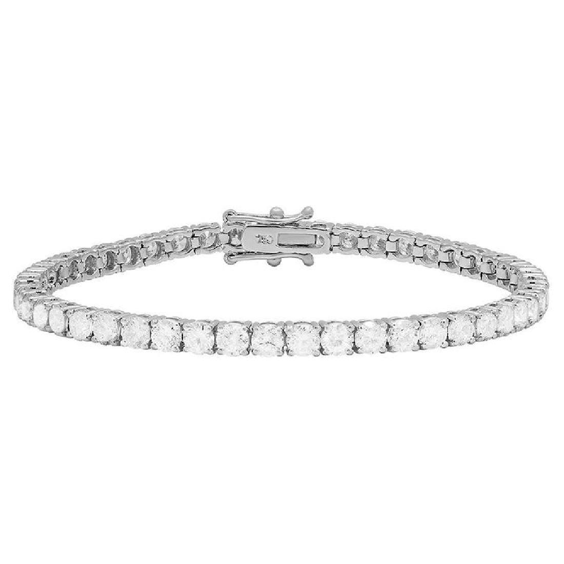 18k White Gold 8.18ct Diamond Tennis Bracelet