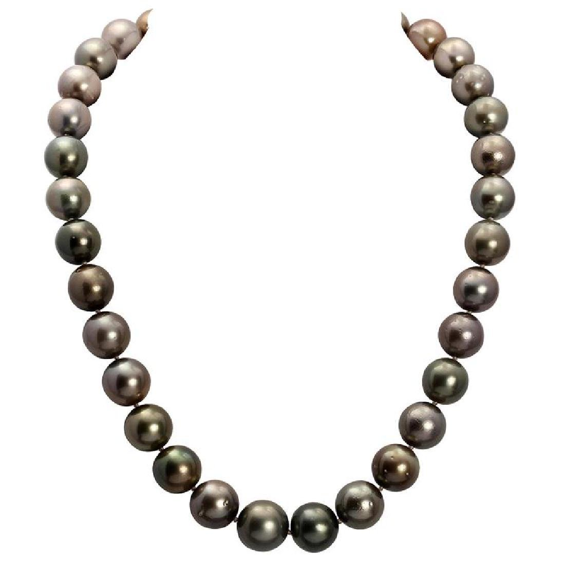 12-14.5mm Natural South Sea Pearl Necklace