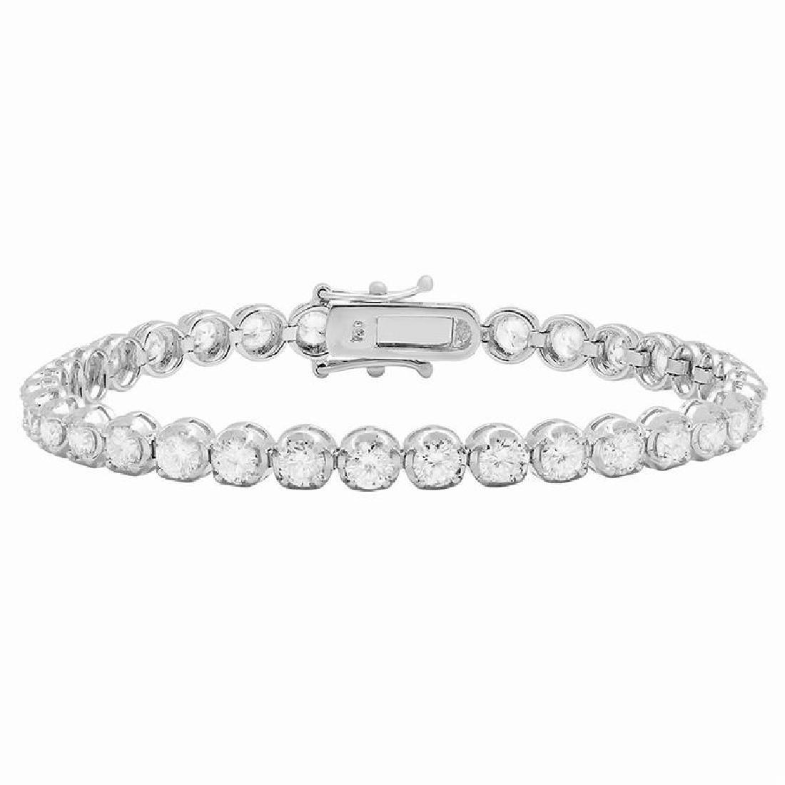 18k White Gold 7.02ct Diamond Tennis Bracelet