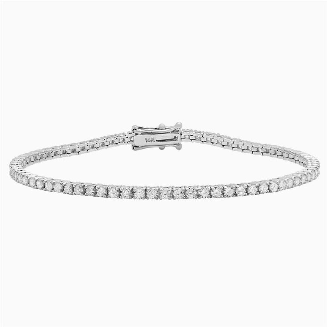 18k White Gold 6.90ct Diamond Tennis Bracelet