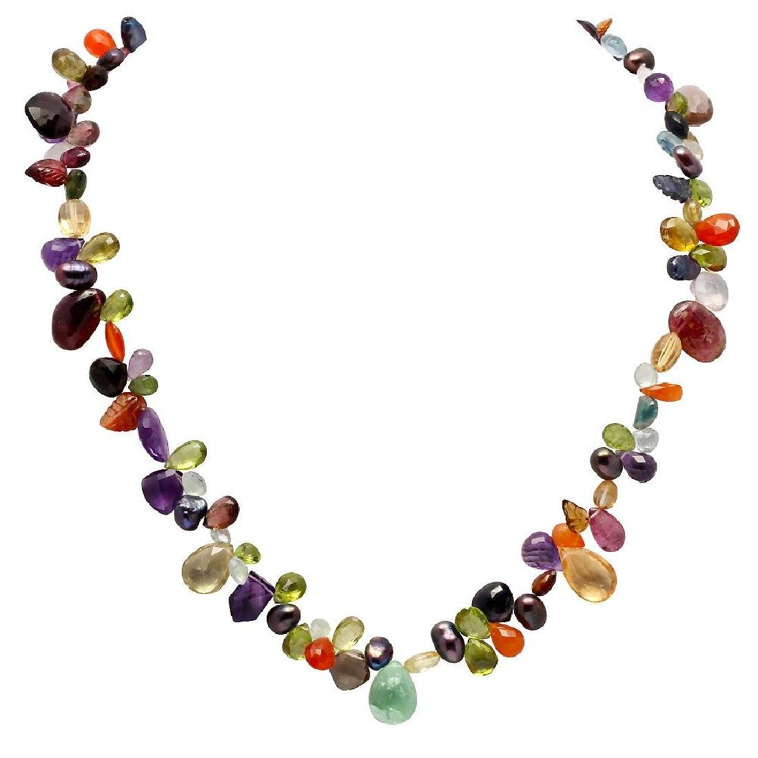 192.00ct Multi-Stone One Strand Necklace