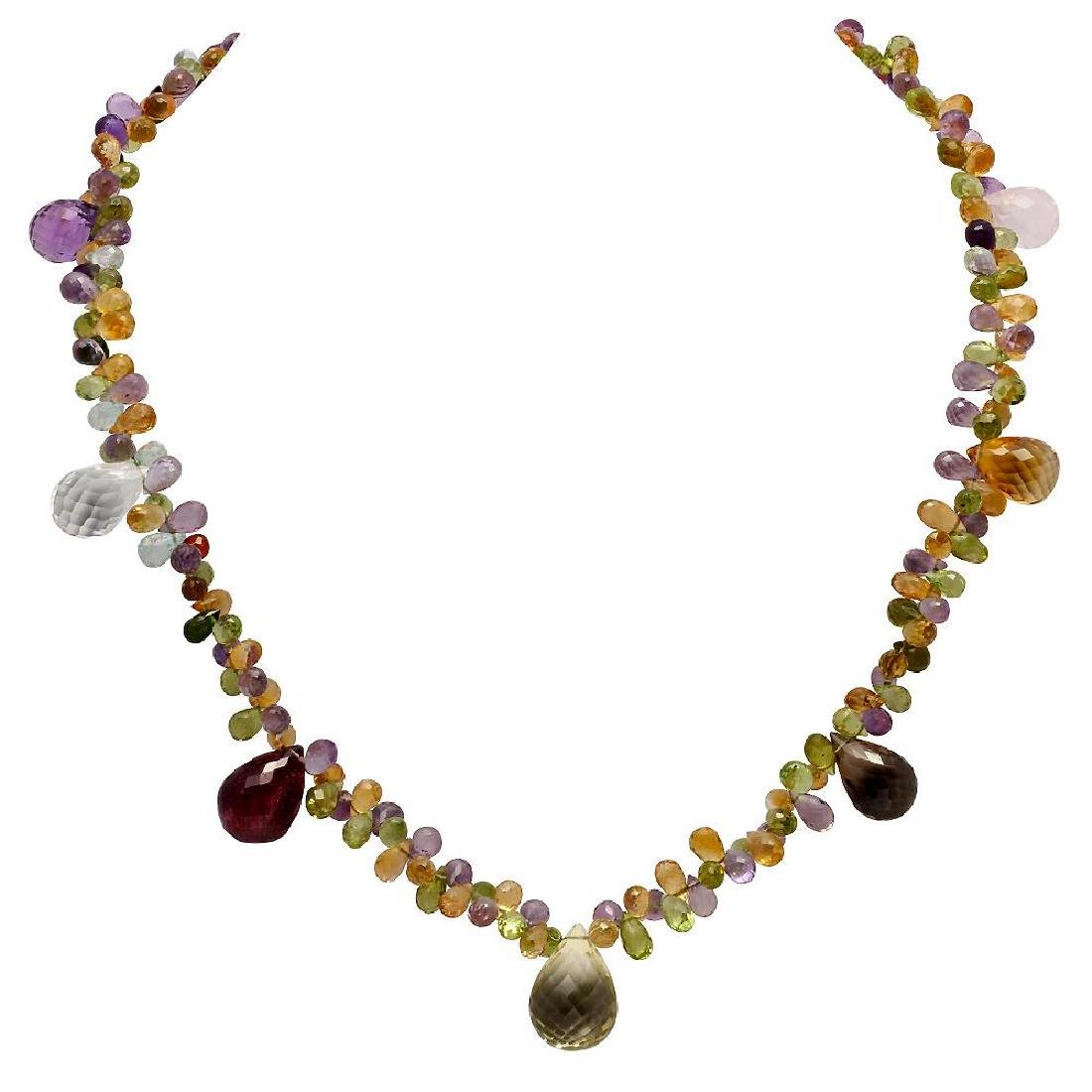 148.00ct Multi-Stone One Strand Necklace