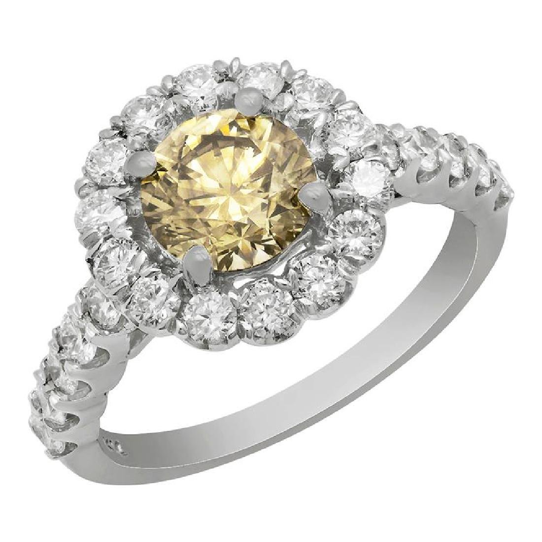 14k White Gold 1.31ct & 0.95ct Diamond Ring
