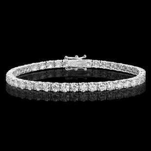 18k White Gold 10.68ct Diamond Bracelet