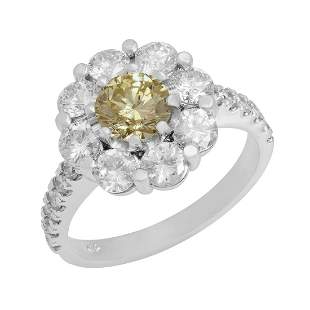 14k White Gold 0.85ct & 1.96ct Diamond Ring