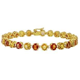 14k Yellow Gold 20.52ct Sapphire 1.09ct Diamond