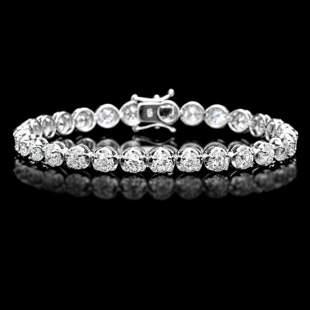 18K Gold 9.94ct Diamond Bracelet