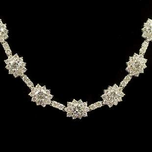18K Gold 18.52ct Diamond Necklace