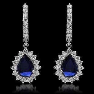 14K White Gold 1.90ct Sapphire and 1.52ct Diamond