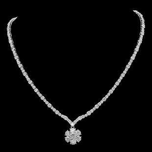 18K Gold 18.31ct Diamond Necklace