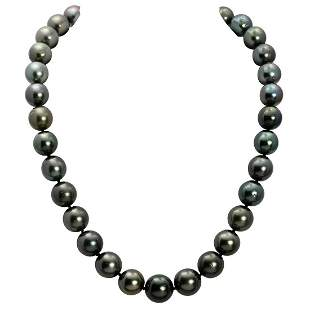 11-13mm Natural Black Pearl Necklace