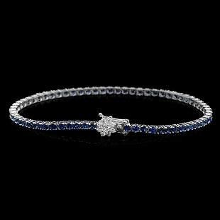 14K Gold 4.73ct Sapphire 0.43ct Diamond Bracelet