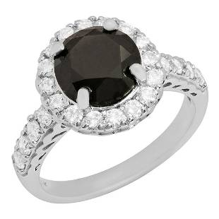14k White Gold 2.29ct & 0.73ct Diamond Ring