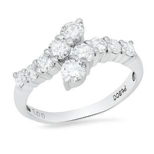 Platinum Setting with 1.0 TCW Diamond Ring