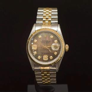 Rolex Two-Tone Datejust 36mm Brown Mother of Pearl Dial