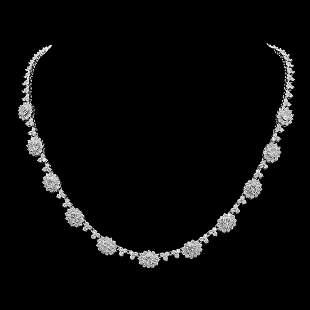 18K Gold 17.03ct Diamond Necklace