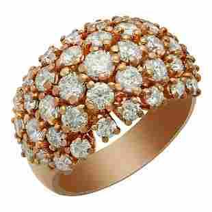 14k Rose Gold 3.49ct Diamond Ring