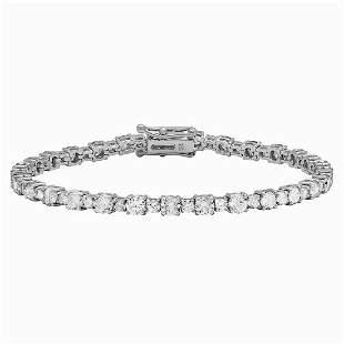 18k White Gold 7.49ct Diamond Tennis Bracelet