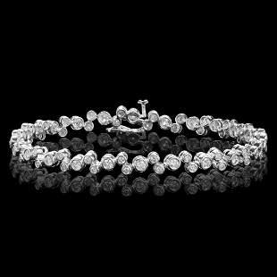 14k White Gold 3.22ct Diamond Bracelet