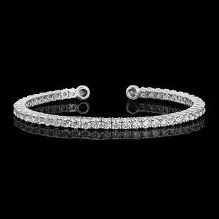 14k White Gold 3.52ct Diamond Bracelet