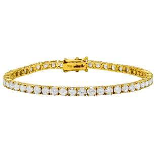 18k Yellow Gold 7.86ct Diamond Tennis Bracelet