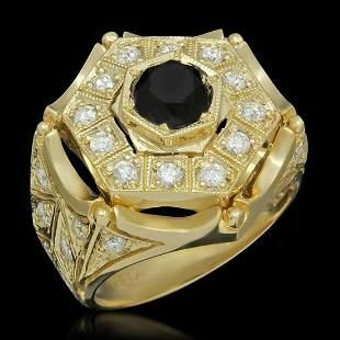 14K Yellow Gold 2.0ct Fancy Diamond and 1.32ct Diamond