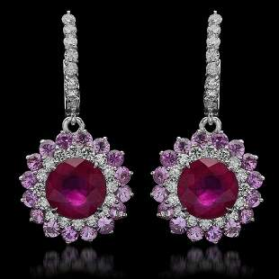 14K Gold 6.17ct Ruby, 4.80ct Pink Sapphire, 4.77ct