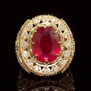 14K Yellow and Rose Gold 13.83ct Ruby and 2.40ct