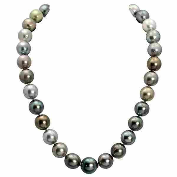 12.5-15mm Natural South Sea Pearl Necklace