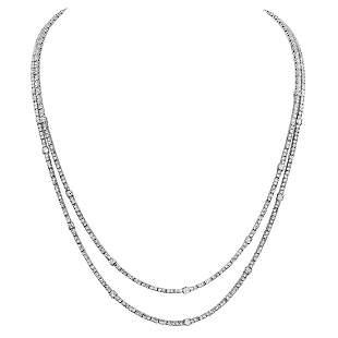 14k White Gold 10.97ct Diamond Necklace